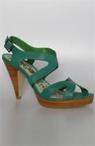 Look fashionably sweet in Colcci's The Candy Heel Sandal in Green.