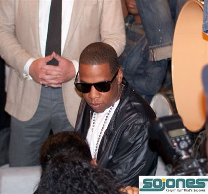 Jay-Z and the Roca Wear Gang at RW's Fashion Week Party (Photo by: Jacob Breinholt)